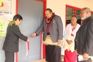 The commissioning of the new classroom building